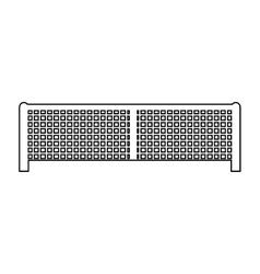 Net tennis sport equipment icon vector