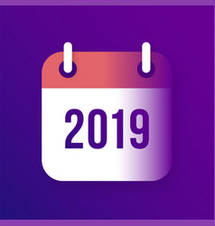 New year 2019 calendar icon vector