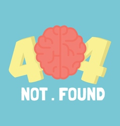 Page not 404 brain error vector image