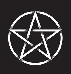 pentagram dot work ancient pagan symbol vector image