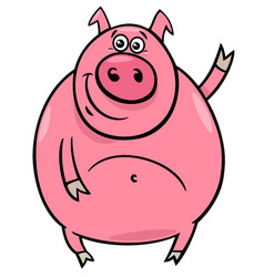 pig or porker character cartoon vector image