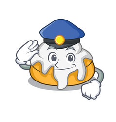 Police cinnamon roll character cartoon vector