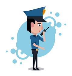 policeman cartoon design vector image