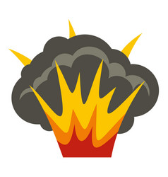 projectile explosion icon isolated vector image