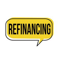 refinancing speech bubble vector image