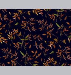 Seamless pattern leaf red orange yellow green vector