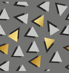 Seamless pattern with golden triangles decorative vector