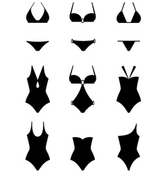 Set of icons of swimming suits vector