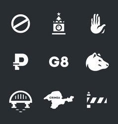 set of russia and sanctions icons vector image
