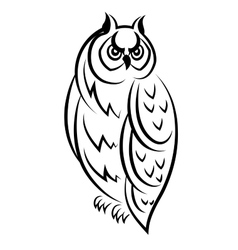 Sketch of an owl bird vector image