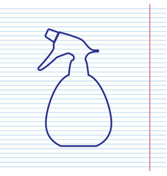 spray bottle for cleaning sign navy line vector image