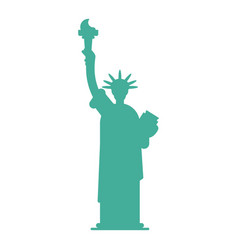 statue of liberty silhouette landmark america usa vector image