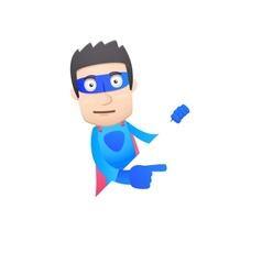 superhero in various poses vector image