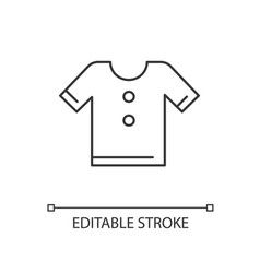 t shirt linear icon vector image
