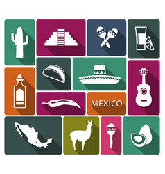 traditional symbols of mexico vector image