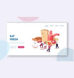 Traditional turkish cuisine website landing page vector