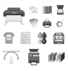Typographical products monochrome icons in set vector