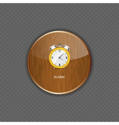 Watch wood application icons vector image
