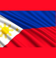 Waving flag background vector