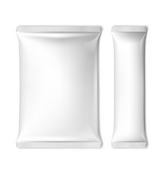 White blank foil packaging for food or other vector