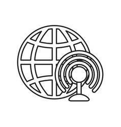 world wifi internet on white background vector image