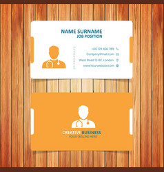 yellow and white business card vector image