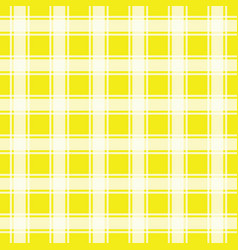 Yellow seamless pattern gingham background vector