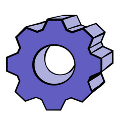 gear icon cartoon vector image