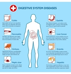 Human Digestive System Diseases vector image vector image