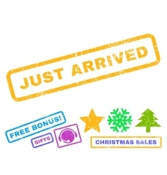 Just Arrived Rubber Stamp vector image