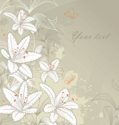 lilies back vector image