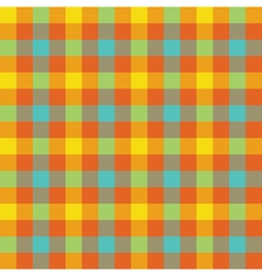 Colored check tablecloth seamless pattern vector image vector image