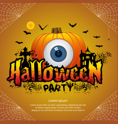 halloween party banner vector image vector image