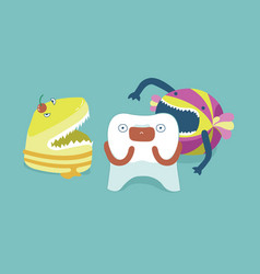 monster candy bite tooth teeth and tooth concept vector image vector image