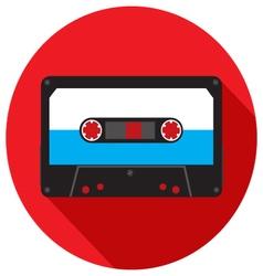 Retro analog audio cassette vector