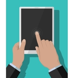 Tablet-pc flat concept vector image
