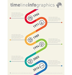 timeline infographic Business graphic elements vector image