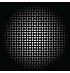 White circle sphere on black background vector image