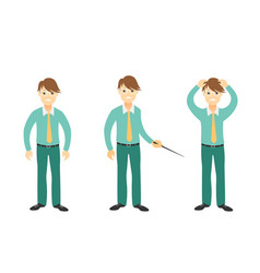 young businessman disappointed and feels stressed vector image vector image
