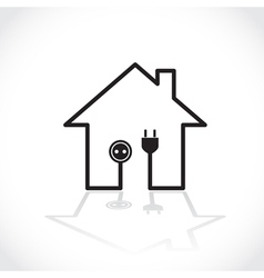 Ecology house vector image