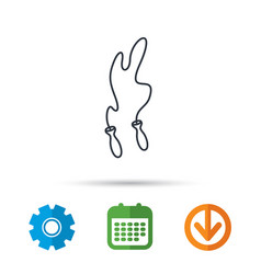 skipping rope icon jumping sport tool sign vector image