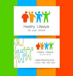 sport fitness logo vector image vector image