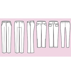Trousers for woman vector image vector image