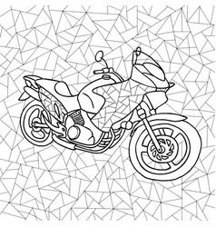 black and white of a motorcycle vector image