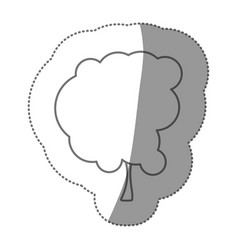 contour beautiful tree icon vector image