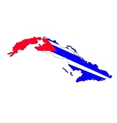 Cuba map vector image vector image
