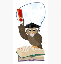 owl speaking vector image