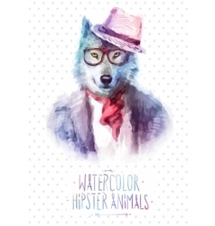 wolf portrait in sunglasses vector image vector image