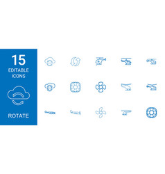 15 rotate icons vector
