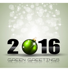 2016 Merry Christmas and Happy New Year Background vector image